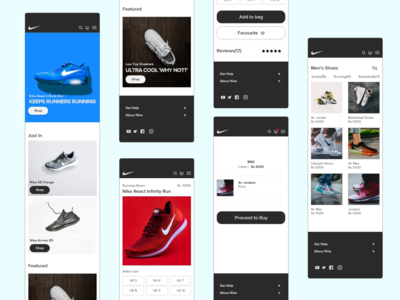 Nike sneakers webapp design
