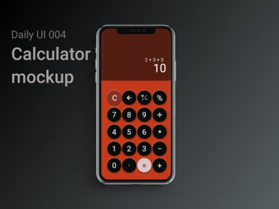 Daily UI 004 Calculator Mock up