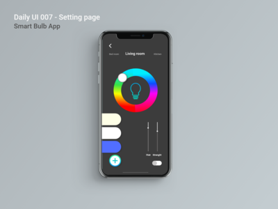 Daily UI 007 Settings page