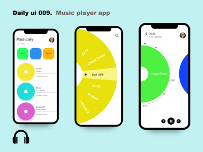 Daily ui 009 music player app
