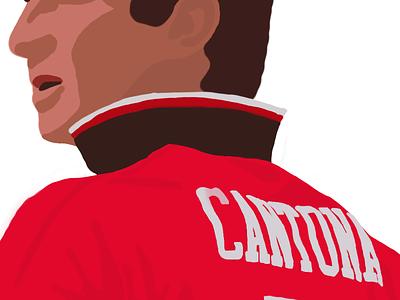 Eric Cantona - iPad Doodle eric cantona ipad doodle drawing