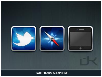Twitter/Safari/Phone iOS Icons safari twitter icons phone
