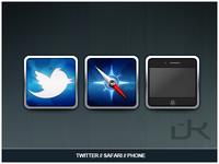 Twitter/Safari/Phone iOS Icons
