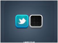 Twitter/Folder Icons