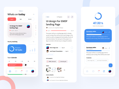 Task management app management task saas android ios clean typography layout interface ui design ux