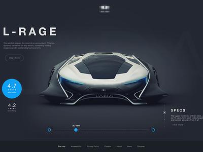 Concept Car website  simple slider flat typography auto site car interface design web ux ui
