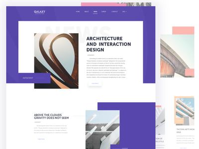 Articles Page For Architecture  Website ux typography layout design buildings architecture landing page clean user experience user interface web design website