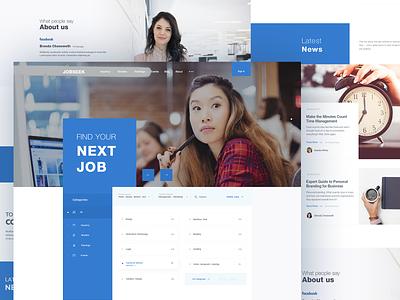Startup Landing Page page landing website search jobs jobsite webdesign minimal design ux ui web clean