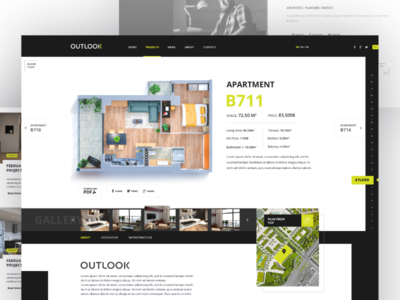 Apartment Page property apartment architecture buildings design layout typography user interface web design website