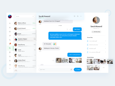 User Profile Chat Ui Interface chat minimal profile user flat dashboard interface design web email ux ui
