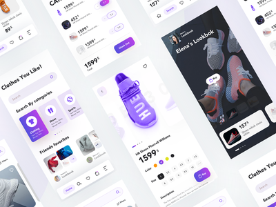 Shopping App UI ecommerce shopping shop aplication app android ios clean typography layout interface design ux ui