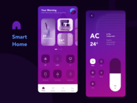 Smart Home APP smarthome smart home page andro ios application app typography layout interface ui design ux