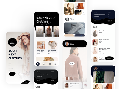Shopping App UI ecommerce shopping shopify shop aplication app android ios clean typography layout interface ui design ux
