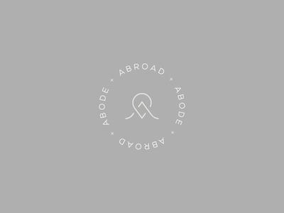 Abroad+Abode luxury logo elegant logo circular logo round logo logo design branding logo designs interior design logo travel logo custom logo logo designer logo logo design concept logo design