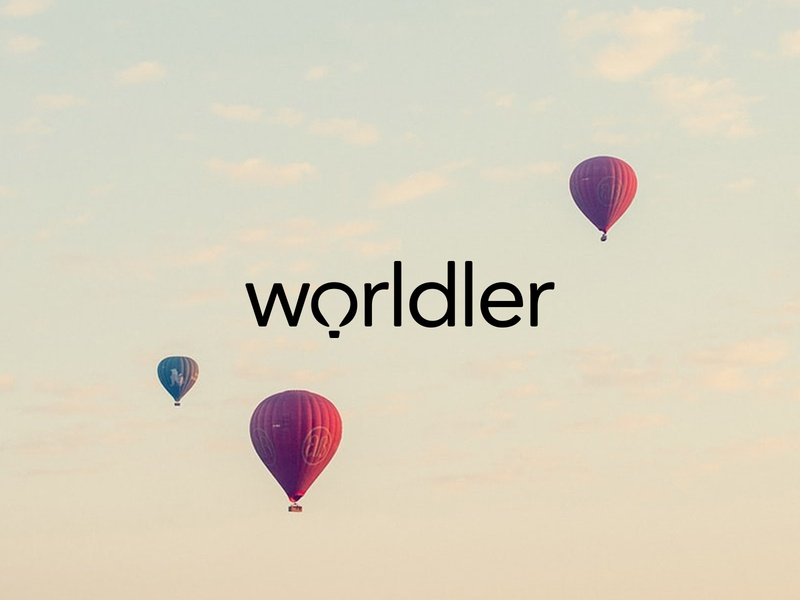 Worldler logodesign negative space negative space logo wordmark balloon air air balloon logo air balloon logo designer logo design clean clean logo minimal custom logo logo