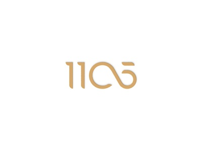 1105 Logo Design custom typography number logo numbers logo wordmark logo wordmark custom logo logo design logo