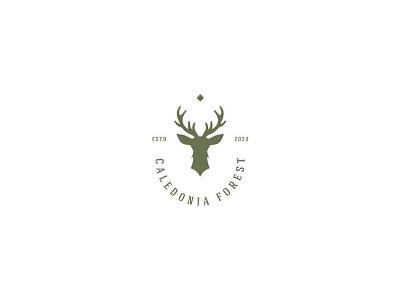 Custom Logo Design forest custom logo logo design logo deer logo deer head deer