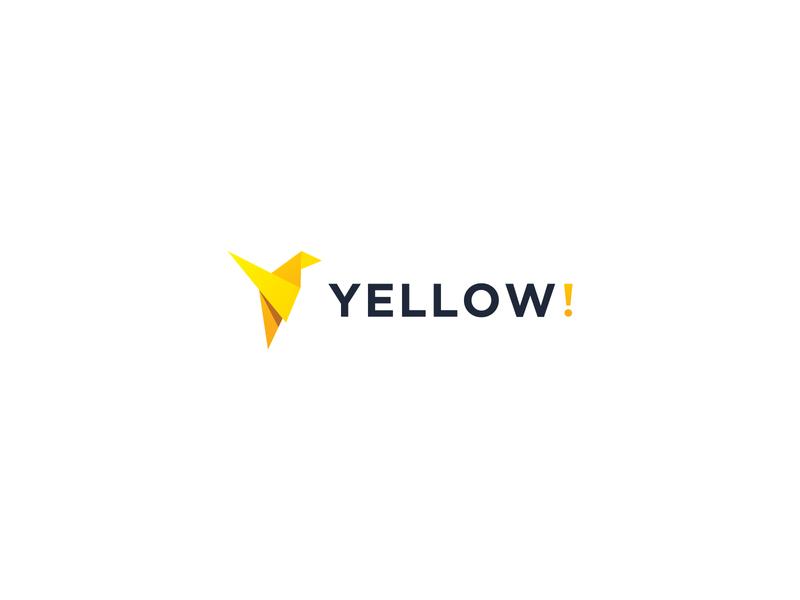 Yellow Logo Design yellow logo designer custom logo origami bird bird origami logo origami clean logo minimal logo design logo