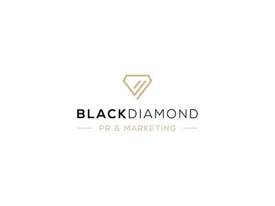 Black Diamond Logo Design design clean logo designer logodesign minimal diamond diamond logo diamond minimal clean logo custom logo logo design logo