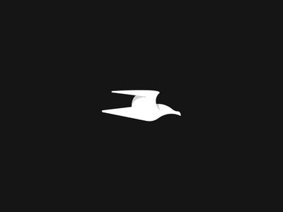 Seagull Logo minimal clean seagull seagull logo custom logo logo design logo