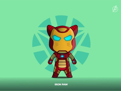 IRON PAW funny illustration funny character characterdesign character concept ironman lineart illustration flat design catlovers cat avengersendgame avengers vector adobe illustrator