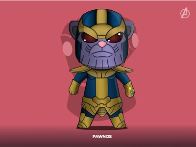 PAWNOS funny illustration funny character character concept characterdesign revenge thanos lineart illustration flat design catlovers cat avengersendgame avengers vector adobe illustrator