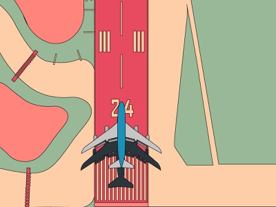 Runway vectorartist color palette design adobe illustrator lineart line art take off vector illustration vectorart vector airport runway illustration illustrator flat design flat aeroplane flight