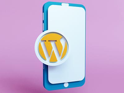 Wordpress Illustration blender ui 3d illustraion