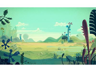 Cartoon Backgrounds landscape retro illustration vector cartoon james gilleard