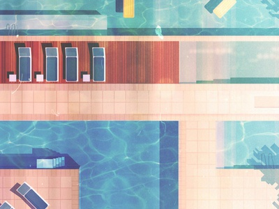 Pool backgrounds vector digital illustration james gilleard