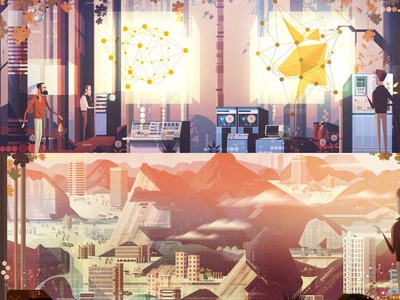 Website headers backgrounds vector digital illustration james gilleard