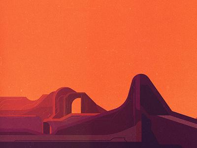 Landscape illustrator digital vector glitch geometric landscape illustration james gilleard