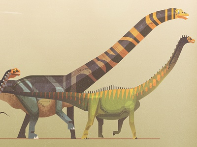 Sauropods graphic vector sauropods dinosaurs james gilleard
