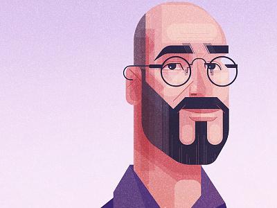 Man face geometric illustration vector character design man james gilleard