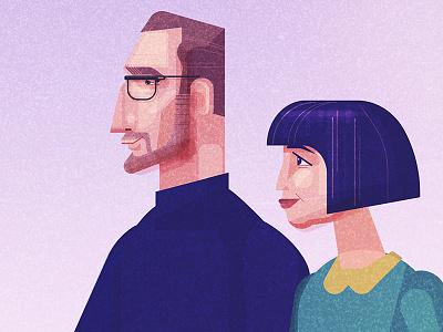 People geometric illustration vector character design james gilleard