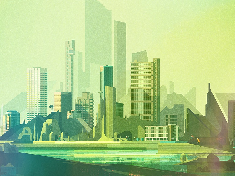 Album Cover illustrator digital vector glitch geometric landscape illustration james gilleard