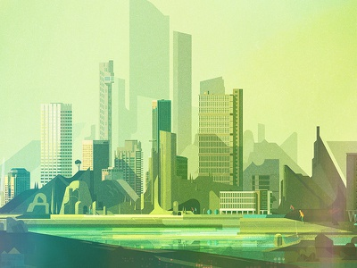 Album Cover illustrator digital vector glitch geometric landscape illustration james gilleard