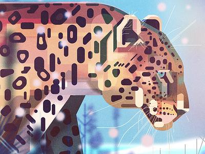 'Saving Species' book spread leopard endangered animals illustrator retro geometric digital illustration james gilleard