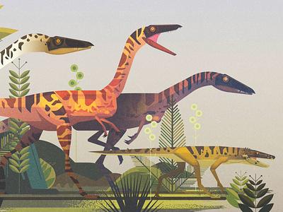 Dinosaurs dinosaurs illustrator vintage retro geometric digital illustration vector james gilleard