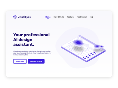 VisualEyes Landing page