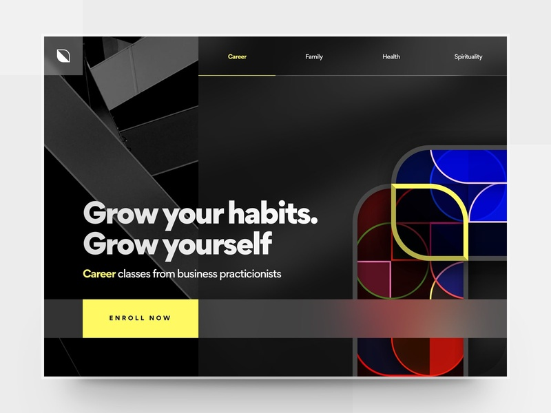 E-Learning Service Landing Page