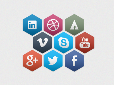 Hexagon - Social Icons