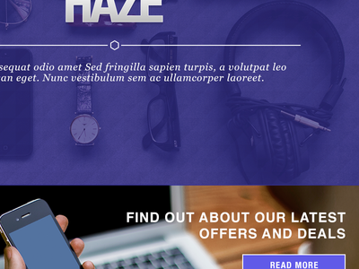 Hazé Front Page Header