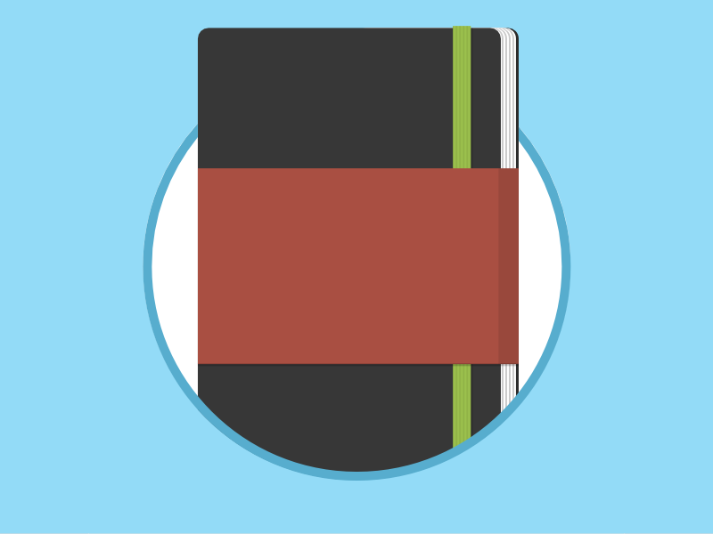 2015 Icons Day 4 - Moleskine Pad icon 2015 2015icons day 3 startup moleskine pad