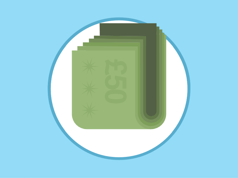 2015 Icons Day 12 - Bills Icon 2015 icons 2015icons delivery bills money