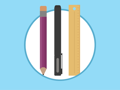 2015 Icons Day 14 - Stationary 2015 icons 2015icons pencil pen ruler stationary