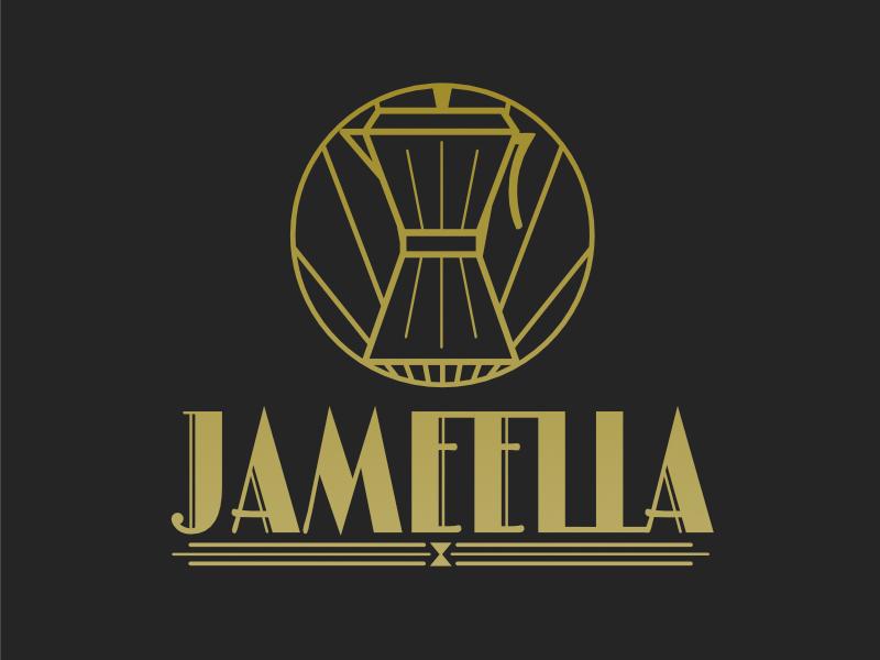 Jameella.com Art Deco Logo  coffee 1920 logo noir artdeco