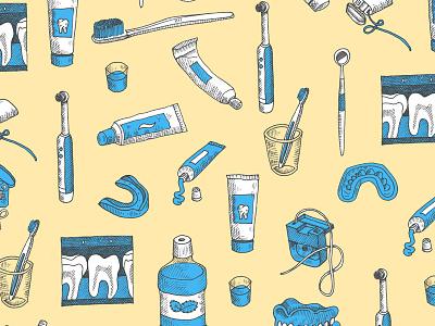 dental repeat illustration pen