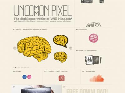 Uncommon Pixel (launched) uncommonpixel portfolio animation hover sketch illustration