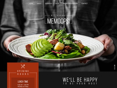 Memoopsi restaurant web design
